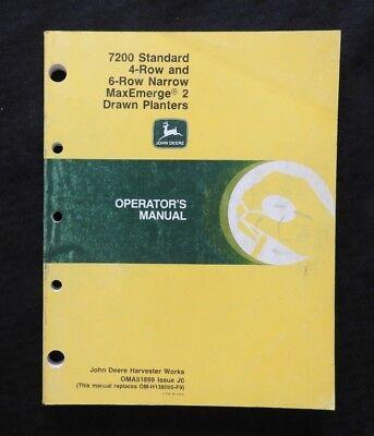 John Deere 7200 Maxemerge 2 4-row Wide 6-row Narrow Drawn Planter Manual Clean 1