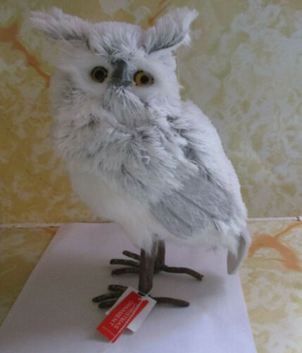 Faux Feathered Owl Christmas Ornament