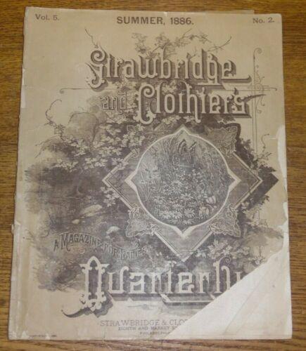Antique Summer 1886 Vol.5 No.2 Strawbridge Clothier