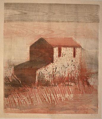 Werner Wittig - Verlassenes Haus - Farbholzriss - o. J. - 14/60