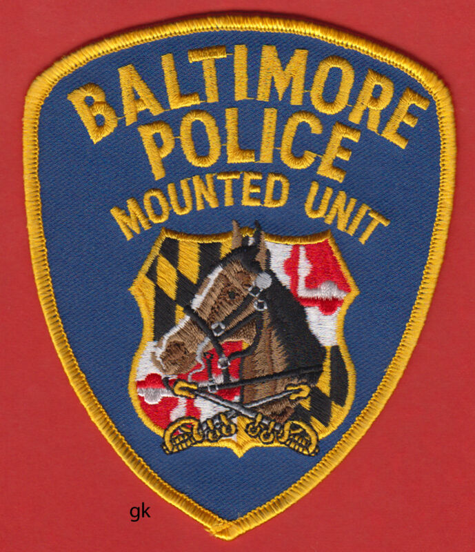 BALTIMORE MARYLAND MOUNTED UNIT POLICE SHOULDER PATCH