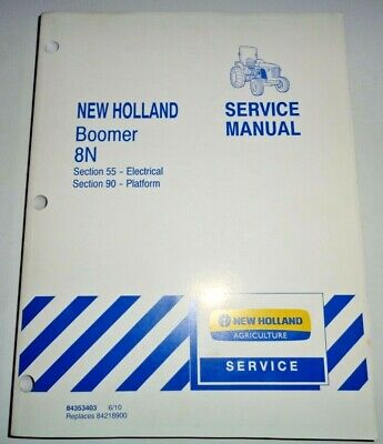 New Holland Boomer 8n Tractor Electrical Platform Service Shop Repair Manual