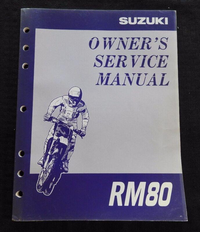 GENUINE 1996 1997 SUZUKI 80 RM80 MOTORCYCLE OWNER