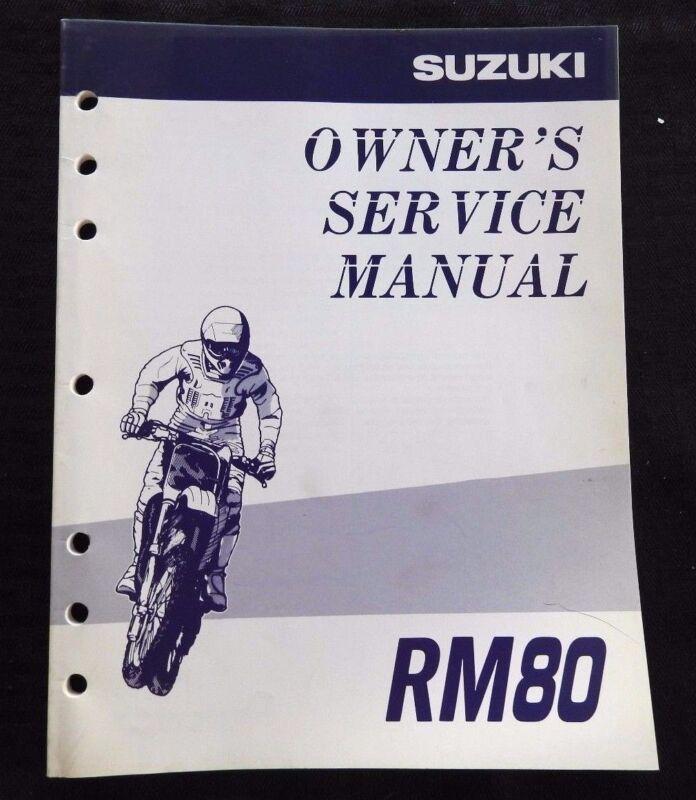 GENUINE 1997 1998 SUZUKI 80 RM80 MOTORCYCLE OWNER
