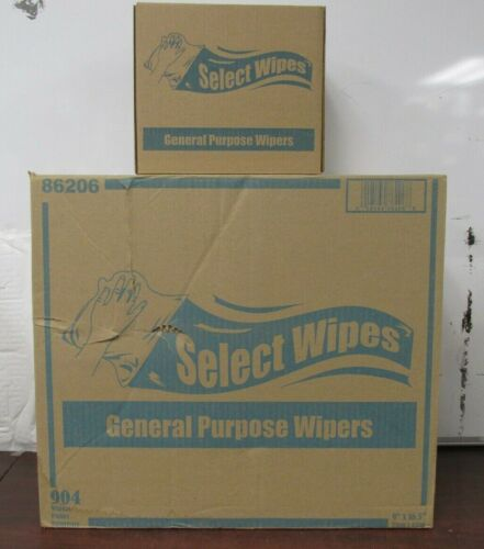 """Select wipes  86206   904 Pop-Up Whites Wipes 9"""" x 16.5"""" a case of 8 boxes [br]"""