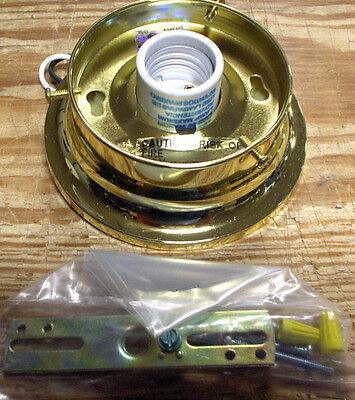 Polished Brass Ceiling Mount Light Fixture 60Watt standard B