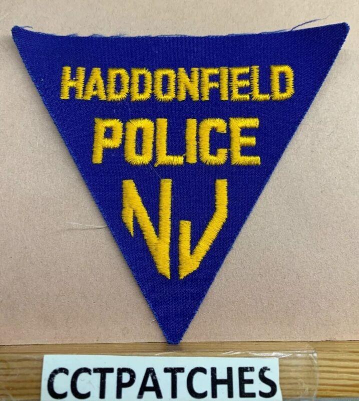 HADDONFIELD, NEW JERSEY POLICE (NO BORDER) SHOULDER PATCH NJ