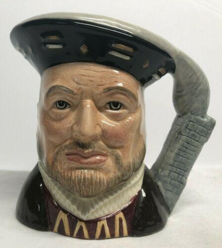 "Royal Doulton Character Jug Henry VIII D6647 1975 Mug 4"" Toby England"