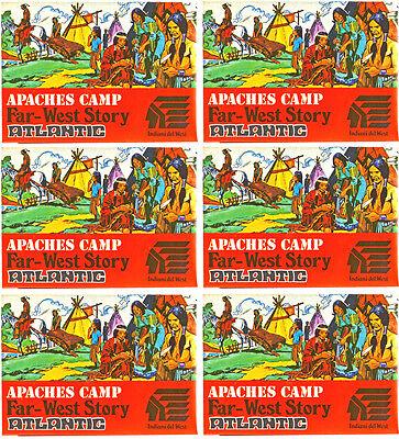 6 Sets 1 72Nd Scale Atlantic Ho Far West Story Apache Camp   1106   Mint Boxes