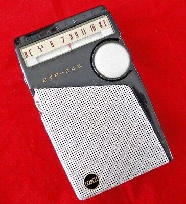 Vtg. Toshiba TRANCEL 6TP-243 Transistor Radio w/Case Japan 1959 JC Penney WORKS!