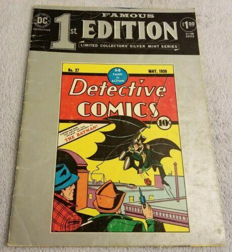Detective Comics No. 27 #C-28 (1974) - Famous 1st Edition Comic - DC -LARGE Book