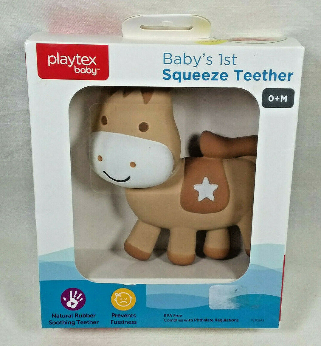 Playtex Baby Baby's 1st Squeeze Teether Teething Toy Soft Na