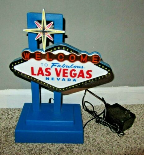 WELCOME TO FABULOUS LAS VEGAS NEVADA LIGHTED SIGN LAMP AND POWER SUPPLY - TESTED