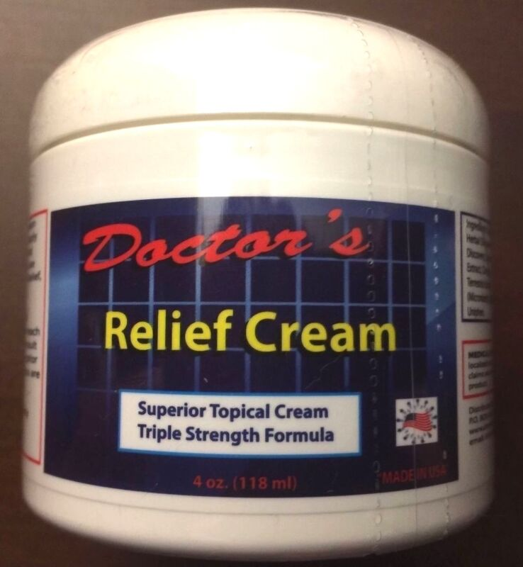 DOCTORS BEST CHRONIC PAIN RELIEF CREAM SCIATICA ARTHRITIS FIBROMYALGIA