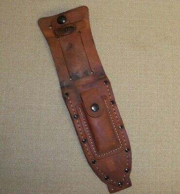 Vietnam War US Pilot Survival Fighting Knife Leather Sheath only for Camillus