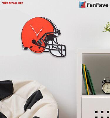 New NFL Cleveland Browns Home Decor EVA Foam 3D Wall Clock 15.3″ x 13.2″ (Cleveland Browns Decor)