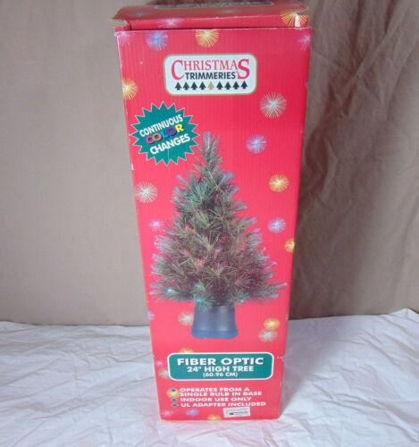 "Christmas Trimmeries 24"" Fiber Optic Christmas Tree"