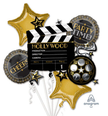 Latest HOLLYWOOD Party Time Balloons Bouquet Hollywood Oscar Party Supplies - Hollywood Supplies