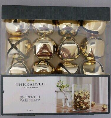 Threshold Jingle Bells Vase Filler 16 Piece Gold 2
