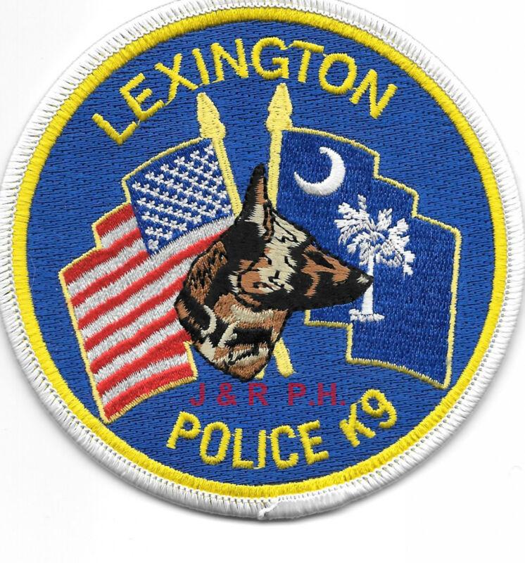 """Lexington  K-9, South Carolina (4"""" round size)  shoulder police patch (fire)"""