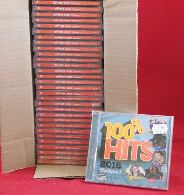 New Lot Of 30 Cds  100  Hits 2016 Volume 1  Feat   Coldplay Sia  Flo Rida  Etc
