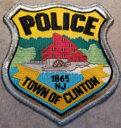 NJ Town of Clinton New Jersey Police Patch