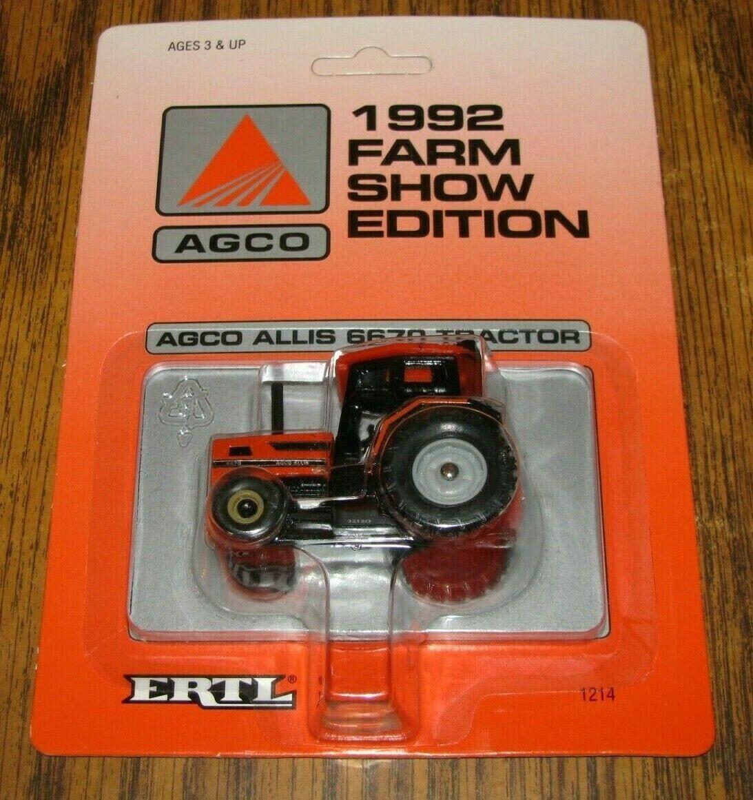 AGCO ALLIS 6670 Tractor 1/64 Ertl Toy #1214 Farm Show Edition 1992 Collectible