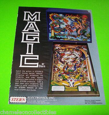 MAGIC By STERN 1979 ORIGINAL PINBALL MACHINE PROMOTIONAL SALES FLYER