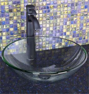 Tempered glass bathroom sink bowl - brand new