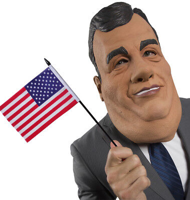 Chris Christie Adult Funny Politician Latex Costume - Halloween Chris Christie