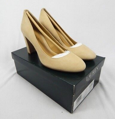 (Ralph Lauren Beige Maddie Pumps High Heels - 7, 7.5, 8.5 B                      )