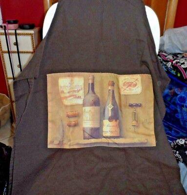 Brown wine theme bib apron  - Wine Themed Costumes