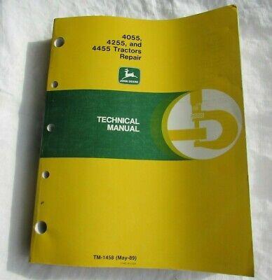 John Deere 4055 4255 4455 Tractor Factory Repair Technical Manual Tm1458