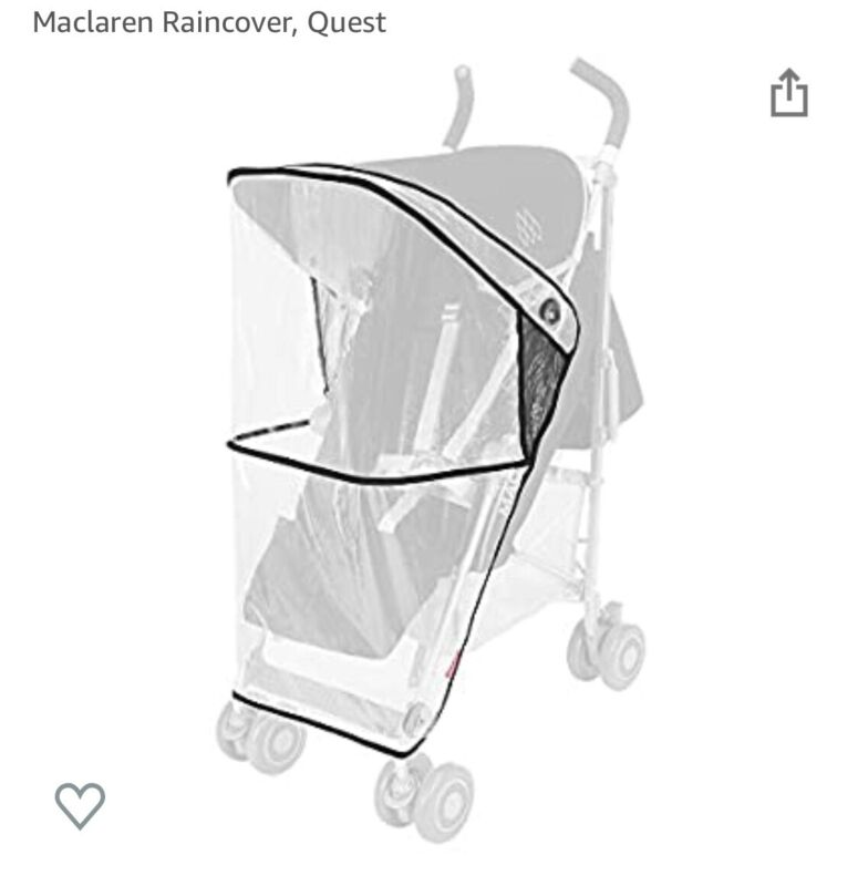 Maclaren Single Stroller Rain Cover Quest NEW SEALED NEVER USED