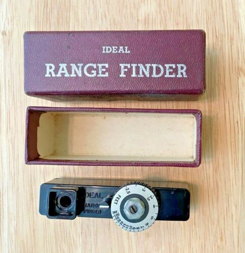 Vintage Ideal Brand Camera  Range Finder Mfg. By Federal Instrument Corp., NY