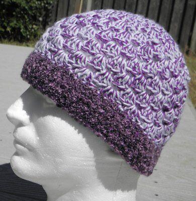 Головной убор Violet/White Crocheted Smaller Size