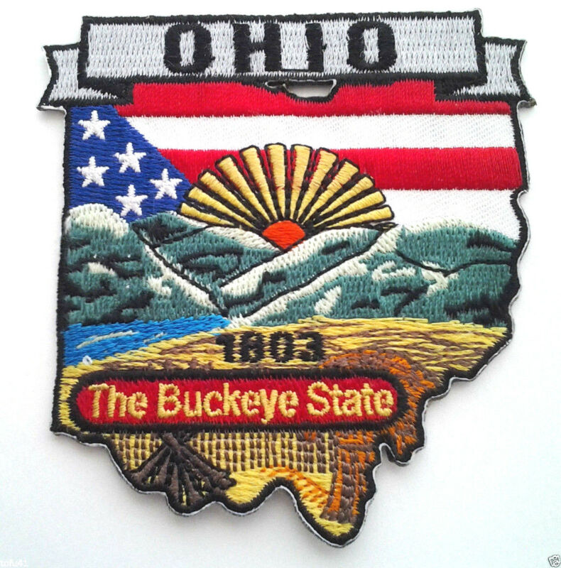 OHIO STATE MAP Biker Patch PM6736 EE