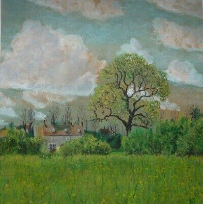 JANE EADES - Feltham Farm, nr. Frome, Somerset - Pastel - 1985 - Unsigned.