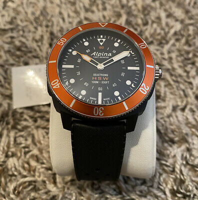 Alpina Seastrong Horological Smartwatch Stainless Black Rubber AL-282LBO4V6 $595