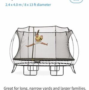 Spring free Trampoline Large oval.