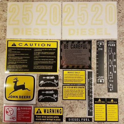 John Deere 2520 Complete Decal Set.