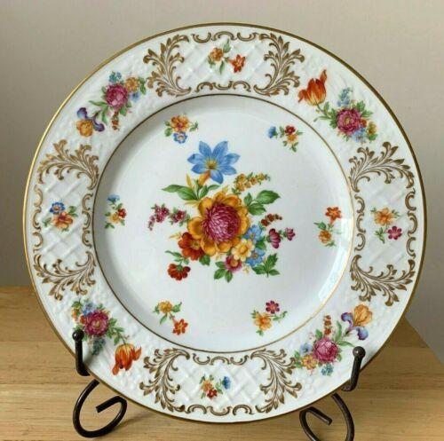 """SCHUMANN BAVARIA SCH408 11"""" Dresden Floral Dinner Plate - VGUC - 12 Available"""