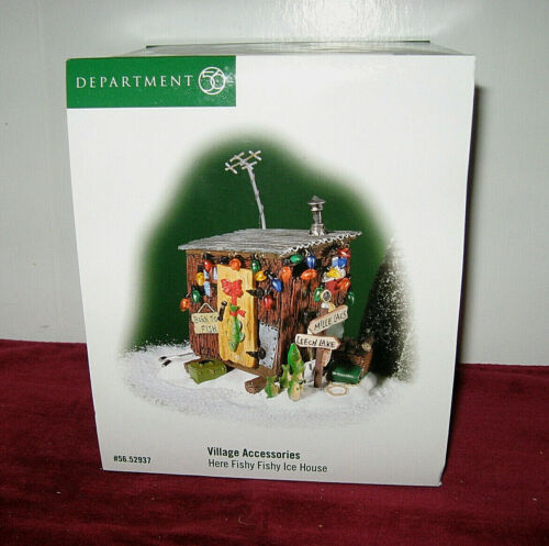 Department 56 Here Fishy Fishy Ice House Village Accessories #56.52937