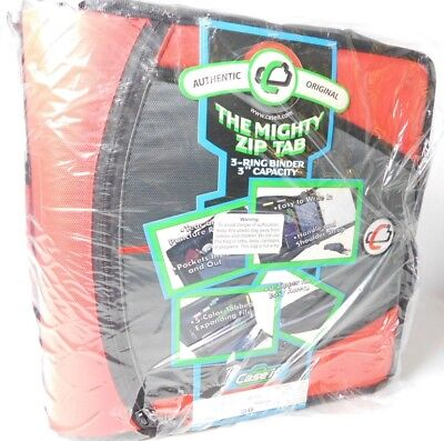 Case It The Mighty Zip Tab 3-ring Binder Authentic Original U-zipper Pockets New