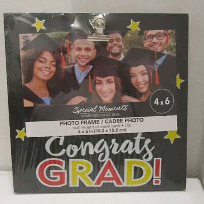 Graduation Photo Clip Frames, 6 x 4 in.Tabletop Or Wall Hanging