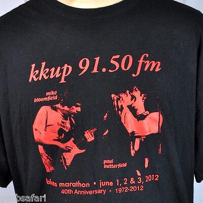 KKUP Blues Butterfield Bloomfield T-Shirt 2XL 2012 Marathon Anniv Ltd Fundraiser