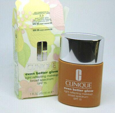 CLINIQUE EVEN BETTER GLOW Light Reflecting Makeup No.98 Cream Caramel