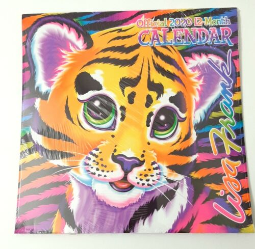 Set of 2 Lisa Frank Calendars 2020 Tiger Puppies Unicorns Dolphins Pink Rainbow