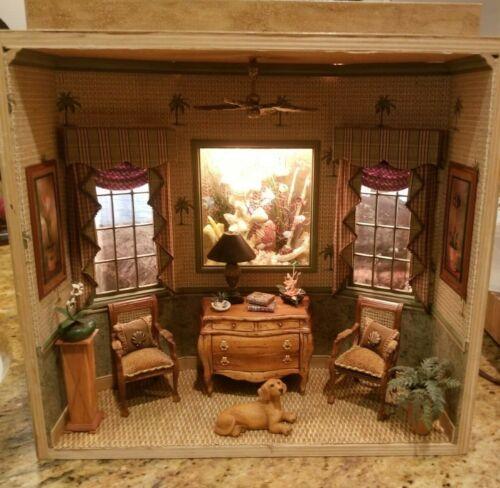 Dollhouse Miniature Artisan Class Roombox Aquarium