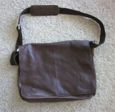 OKPTA Brown Leather Messenger Crossbody Computer Lap Top Bag Flap over Briefcase - Flap Over Computer Briefcase